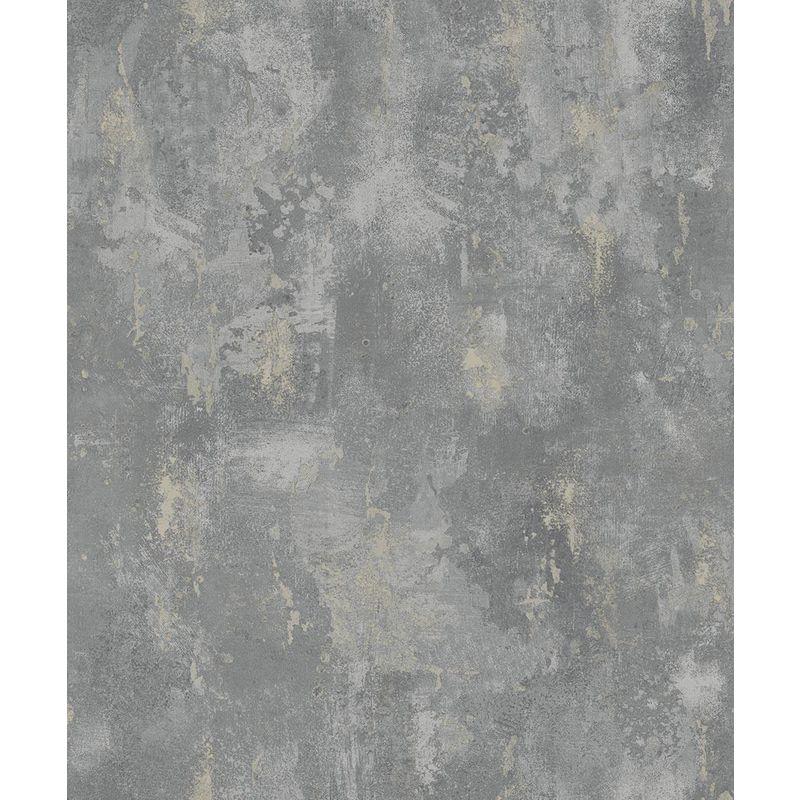 Image of Deco 4 Walls - Concrete Industrial Stone Distressed Wallpaper Metallic Grey Silver Paste Wall