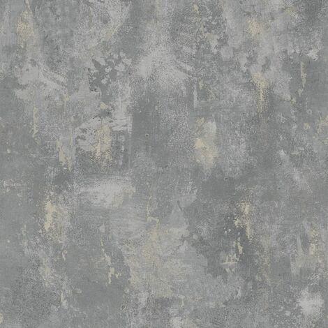 DUTCH WALLCOVERINGS Wallpaper Concrete Grey TP1008