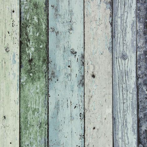 DUTCH WALLCOVERINGS Wallpaper Scrap Wood Green