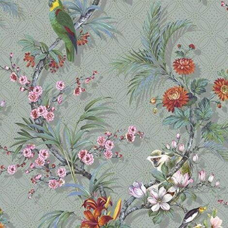 DUTCH WALLCOVERINGS Wallpaper Tropical Grey