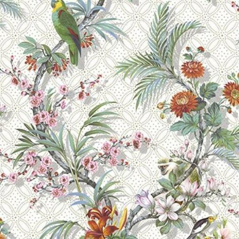 DUTCH WALLCOVERINGS Wallpaper Tropical White