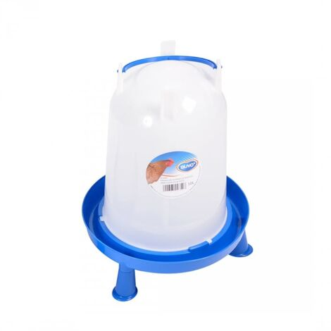 Duvo+ Poultry Waterer with Handle and Studs 10 L - White