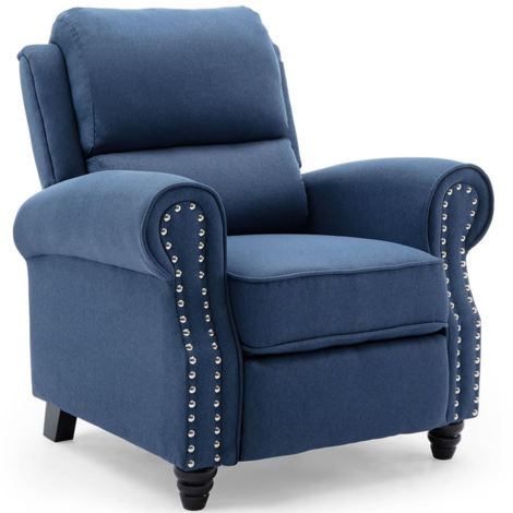 DUXFORD LINEN FABRIC PUSHBACK RECLINER ARMCHAIR SOFA OCCASIONAL CHAIR - different colors available