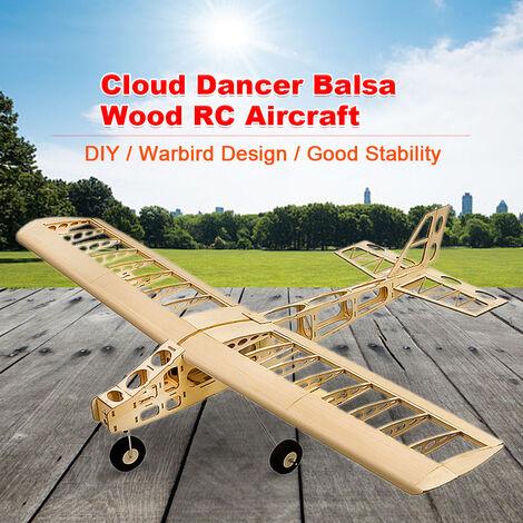 Dw Hobby T2501 Ep Cloud Dancer Formation Plan Balsa Wood Envergure Biplan Rc Avion Jouet Kit Avion Pour Le Bricolage, Blond