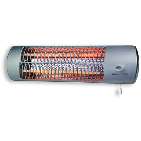 DX Drexon 704200 - Réglette infrarouge - 1200W - 13 x 56 x 16,5 cm - Mise en marche par tirette - Gris