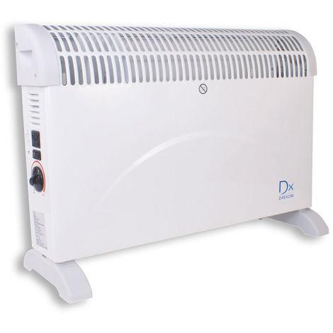 DX Drexon 742200 - Convecteur mobile PRIMO - 2000W - 20 x 75 x 47,5 cm - Thermostat mécanique - Avec Anti-surchauffe - Blanc