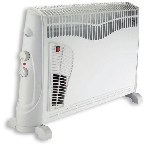 DX Drexon 743300 - Convecteur mobile TURBO - 2000W - 20 x 75 x 47,5 cm - Thermostat mécanique - Avec Anti-surchauffe - Blanc