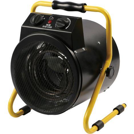 DX Drexon 924300 - Canon à chaleur - 33 cm x 14cm x 38 cm - 3,5 Kg - Noir / Jaune
