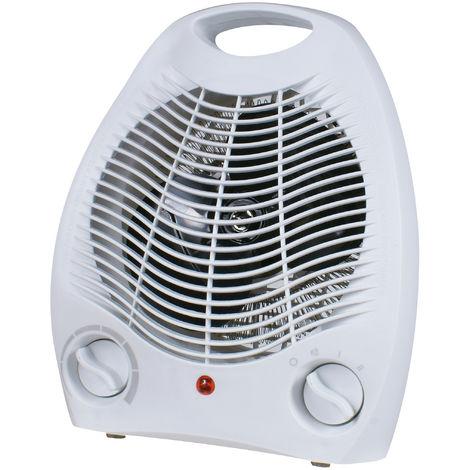 DX Drexon EKO - Radiateur soufflant mobile - 2000W - Thermostat mécanique - Ventilation Froide - Blanc