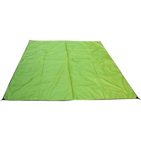 DX001 Tapis impermeable et solaire pour tente de camping en plein air, 300 * 300cm vert armee et resistant a l'humidite DX001