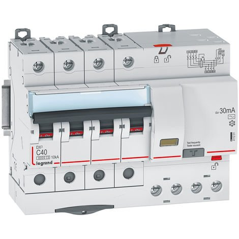 Dx3 disj differentiel 4p c 40a 6000a ac 30ma 7 modules tg auto