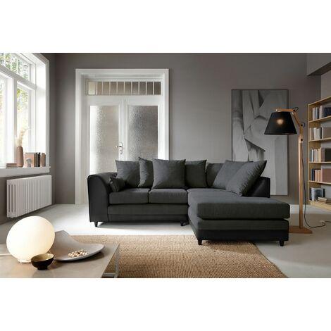 Dylan Byron Corner Group Sofa - Black, Right Hand - color Black
