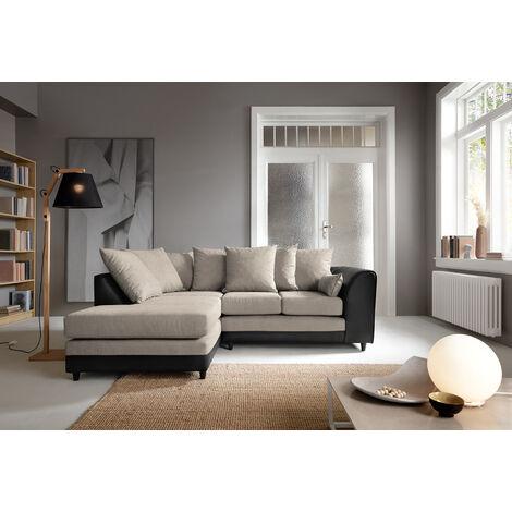 Dylan Byron Corner Group Sofa - Brown, Left Hand - color Brown