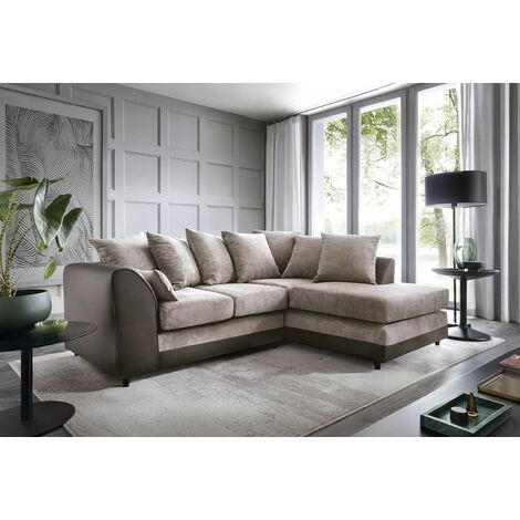 Dylan Byron Corner Group Sofa - Brown, Right Hand - color Brown
