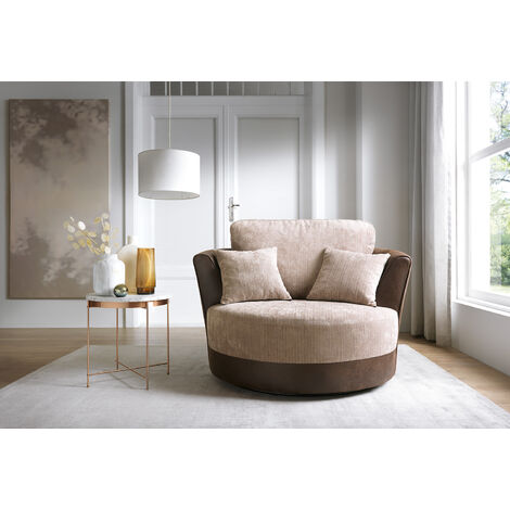Dylan Swivel Chair - Brown - color Brown