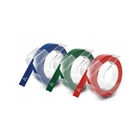 Dymo 3D label tapes - Belgique - Ampoule - 3 m - 3 pièce(s) - 89 mm - 105 mm (S0847750)