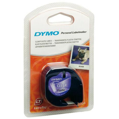 DYMO LetraTag cassette S0721550 12mmx4m noir sur tr