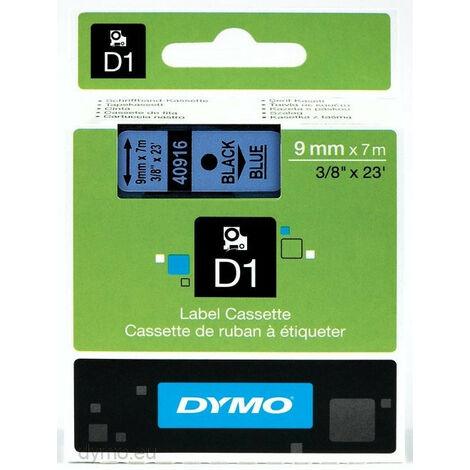 Dymo Ruban pour étiquettes printer 40916 9mm 7m noir printing/blueD1 (40916)