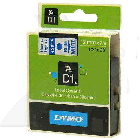 Dymo Ruban pour étiquettes printer 45014 12mm 7m bleu printing/whiteD1 (45014)