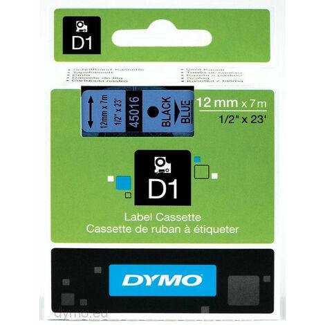 Dymo Ruban pour étiquettes printer 45016 12mm 7m noir printing/blueD1 (45016)