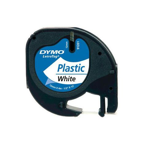 Dymo Ruban pour étiquettes printer 59422 12mm 4m noir printing/whiteLetraTag (59422)