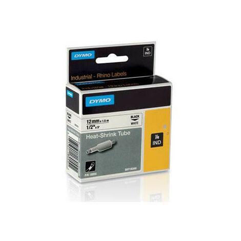 Dymo Ruban pour imprimante etiquettes 18055, S0718300, 12mm, 1,5m, whiteRHINO plat sh (18055)