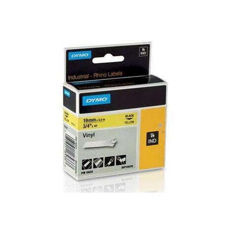 Dymo Ruban pour imprimante etiquettes 18433, S0718470, 19mm, 5,5m, yellowRHINO vinyl (18433)