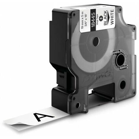 Dymo Ruban pour imprimante etiquettes 18445, S0718620, 19mm, 5.5m, whiteRHINO vinyl p (18445)