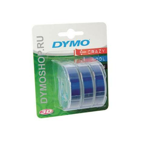 Dymo Ruban pour imprimante etiquettes S0847740, 9mm, 3m, noir, printing/blue3D, 1 bli