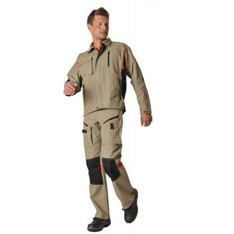 DYNAMIC FIT Pantalon de travail coton/polyester résistant et multipoches MDH