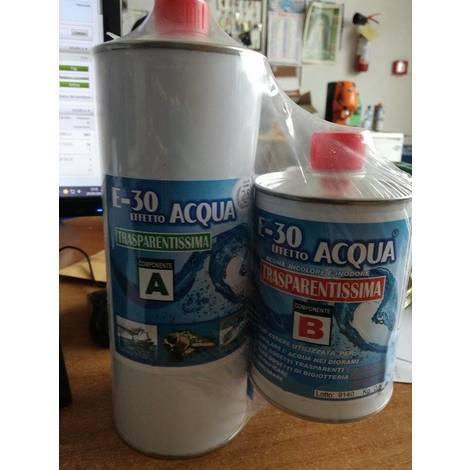 E-30 effetto acqua prochima-resina epossidica trasparente a+b kg 1.60
