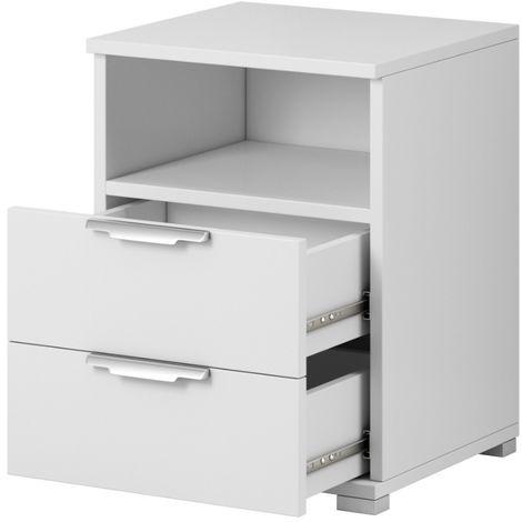 e-Com - Bedside Tables Nightstands - 61 x 46 x 42 cm (H x W x D)