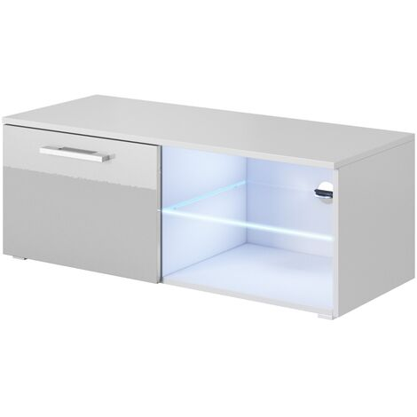 e-Com - TV Unit Cabinet Stand Sideboard Zeus With LED - Various Sizes