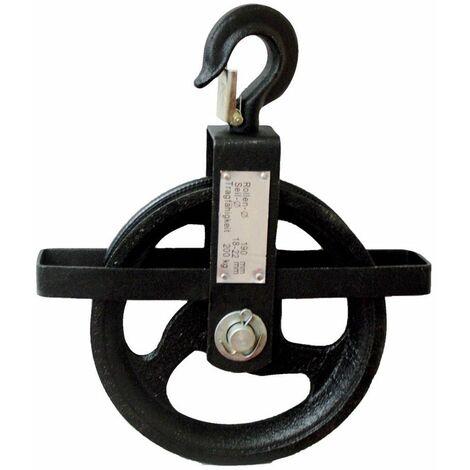 E/D/E Seilrad 190 mm, 200 kg für Seile von 18 - 22 mm