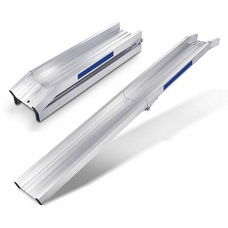 E. Longueur de rampe 3.50m - Pliée: 1.75m - Hauteur à franchir 940mm - Largeur int. 195mm - Prix Unitaire - Charge max 350kg pour empattement 1500mm