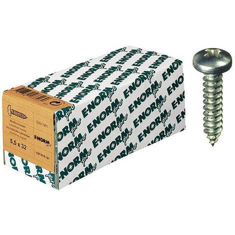 25 Stück Blechschrauben DIN 7981 Linsenkopf A2 4,8X9,5