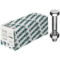 E-NORMpro Sechskantschrauben m. Schaft DIN 601 Mu galZn M10x110 HP (Inh.50 Stück)