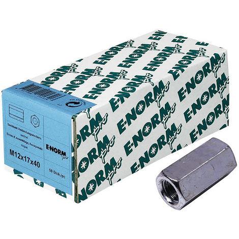 E-NORMpro Verb.muffe 6kt. 4.8 galZn M8x30x11 HP (Inh. 100 Stück)