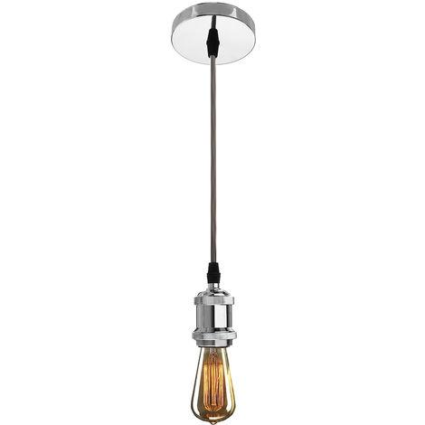 E27 1M Lámpara de techo retro vintage para dormitorio de sala de estar (sin batería)