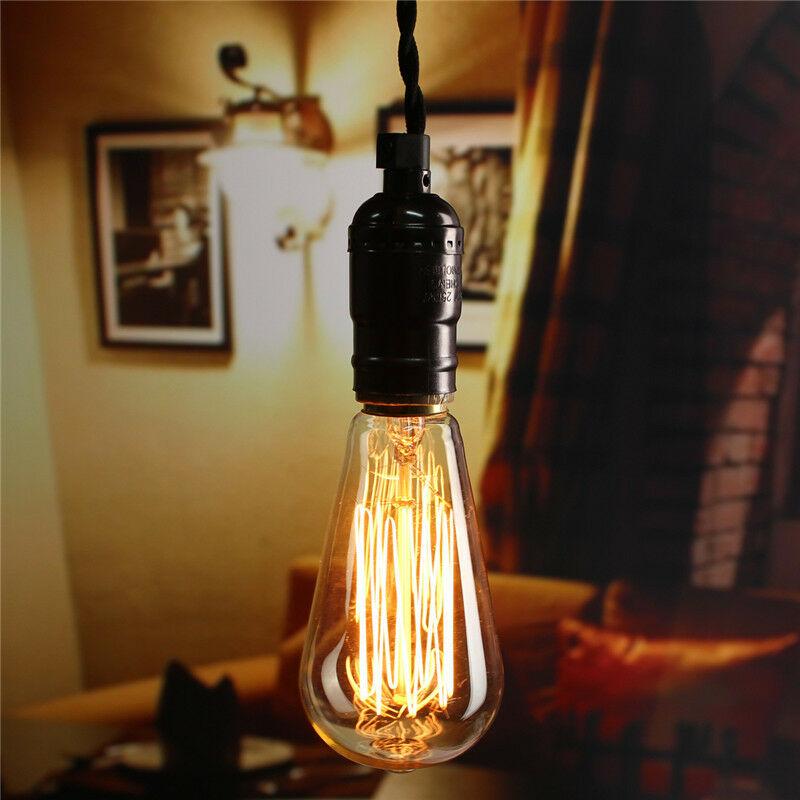 E27 60W Retro Vintage antiguo Edison filamento blanco cálido bombilla incandescente restaurante Bar decoración del hogar AC 220V