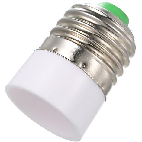 E27 a E14 Base Enchufe LED Lampara de luz Bombilla Adaptador Convertidor Divisor