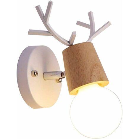 E27 Applique Murale Luminaire Lampe Murale Enfant Deco Noel Créatif Antlers Cerf Forme Luminaires lampe Pour Chambre, Salon,Couloir, Escaliers.