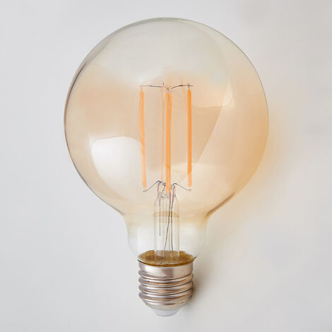 E27 bombilla globo LED 6W, 500Lm, ámbar, 2200K