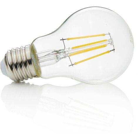 E27 bombilla LED filamento 4W, 470Lm, 2700K, tran.