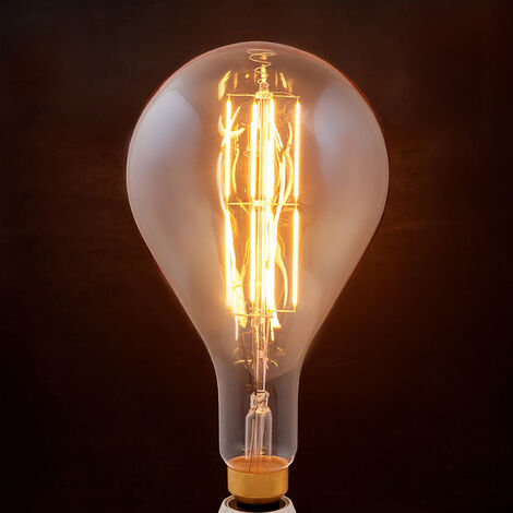 E27 bombilla LED filamento 8W 1.900K pera ámbar