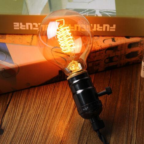 E27 Bombillas incandescentes Edison G80 60W 220V Lámpara de filamento vintage Globe [Clase energética E]