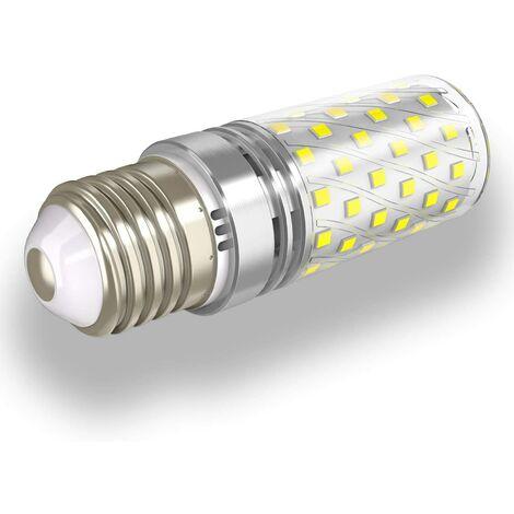E27 Bombillas LED Blanco frío 12W 6000K 1400LM Bombilla pero equivalente 100W Bombilla halógena, E27 Bombilla LED tipo candelabro Lámpara E27 Edison no regulable, juego de 4 [Clase energética A +]