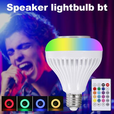 E27 Bt altavoz, 6W Rvb Cambio de la lampara estereo de audio inalambrico de control remoto con 24 teclas