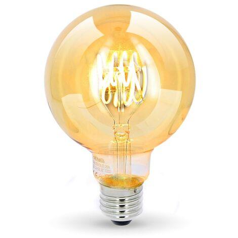E27 G95 4.5W Bombilla LED Filamento Deco Vintage Ámbar   Temperatura de color: Blanco cálido 2200K
