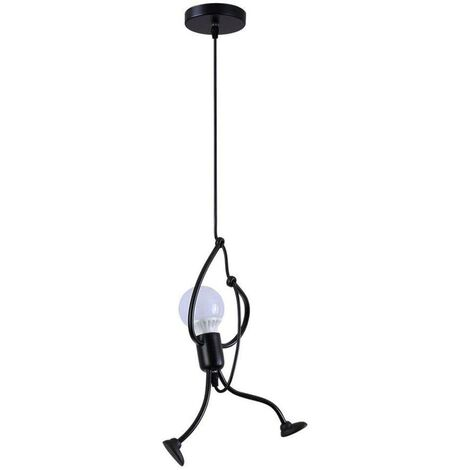 E27 Iron Chandelier Lamp Design Cartoon Creative Chandelier of the Children's Chamber (Black-